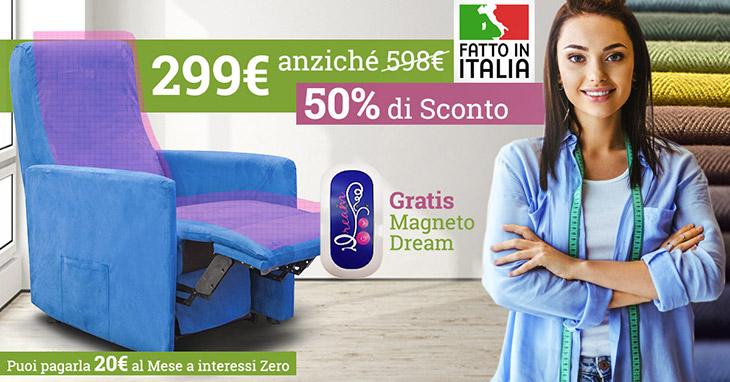 Promozione poltrona relax al 50 di sconto vendita for Divano zucchetti